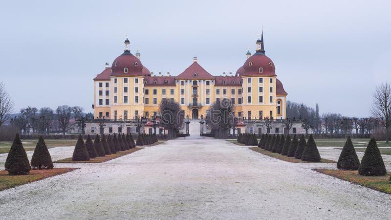 Moritzburg城堡 E 免版税库存图片