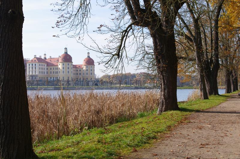 Download Moritzburg Castle stock photo. Image of germany, garden - 16817032