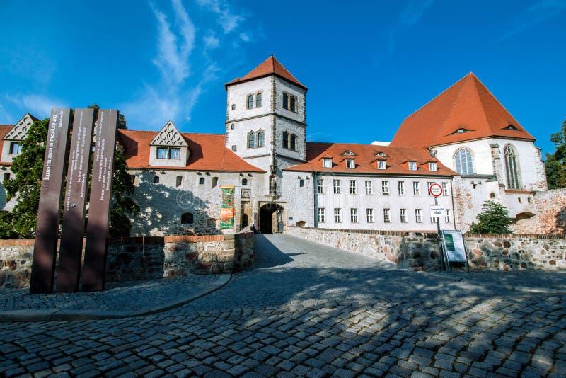 Moritzburg Halle royaltyfria bilder
