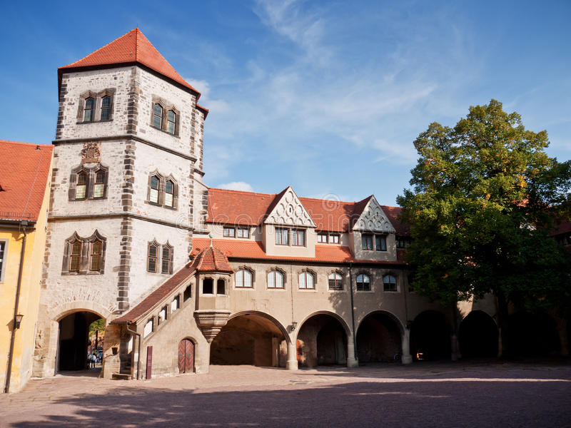 Moritzburg Halle, Tyskland royaltyfria bilder