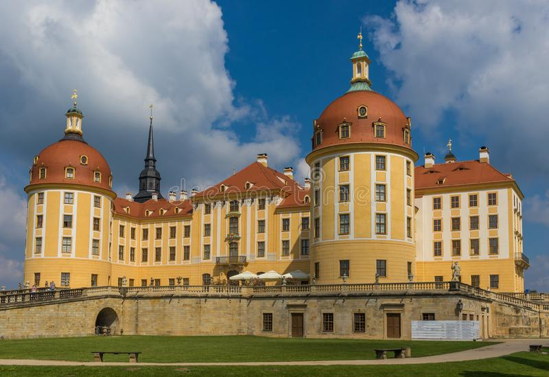 Moritzburg slott, Dresden region germany royaltyfri bild
