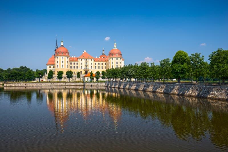 Moritzburg slott nära Dresden, Tyskland royaltyfri fotografi