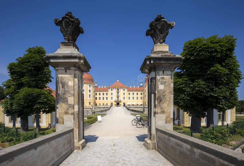 Moritzburg slott nära Dresden, Tyskland royaltyfri foto