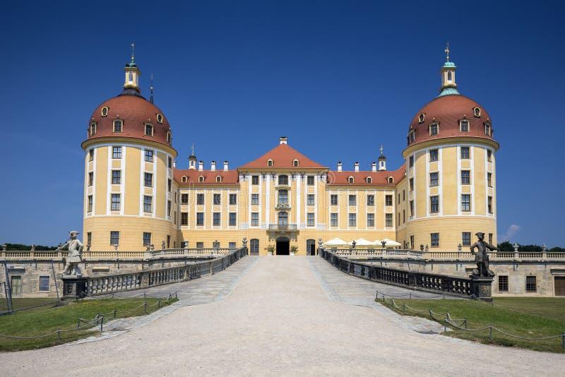Moritzburg slott nära Dresden, Tyskland royaltyfria foton