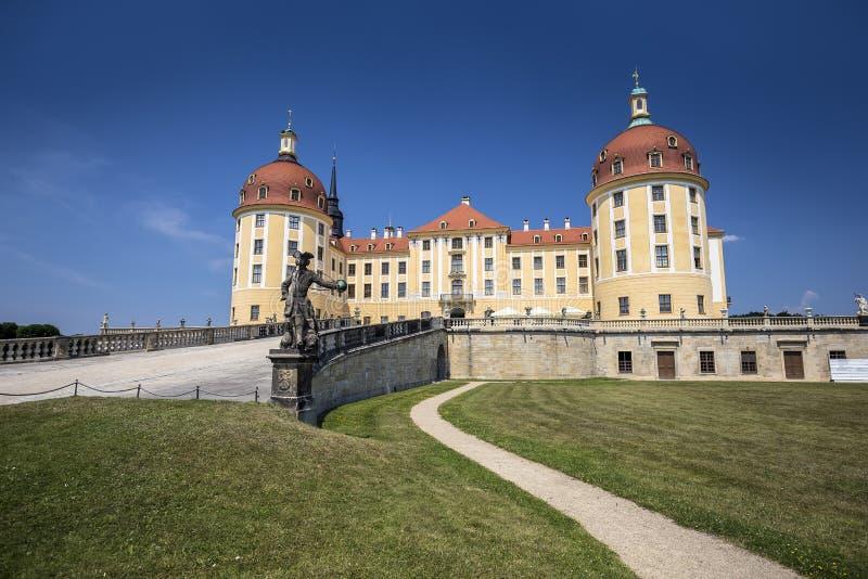 Moritzburg slott nära Dresden, Tyskland arkivfoton