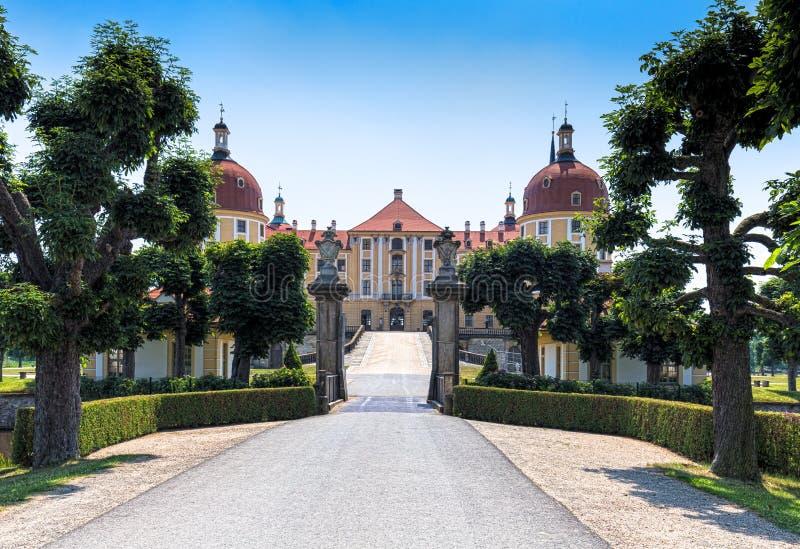 Moritzburg slott nära Dresden, Tyskland arkivfoto