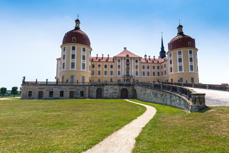 Moritzburg slott nära Dresden, Tyskland fotografering för bildbyråer