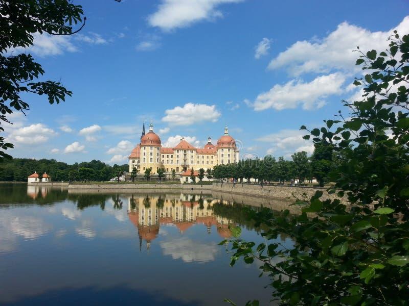 Moritzburg slott, Sachsen i sommar arkivfoton