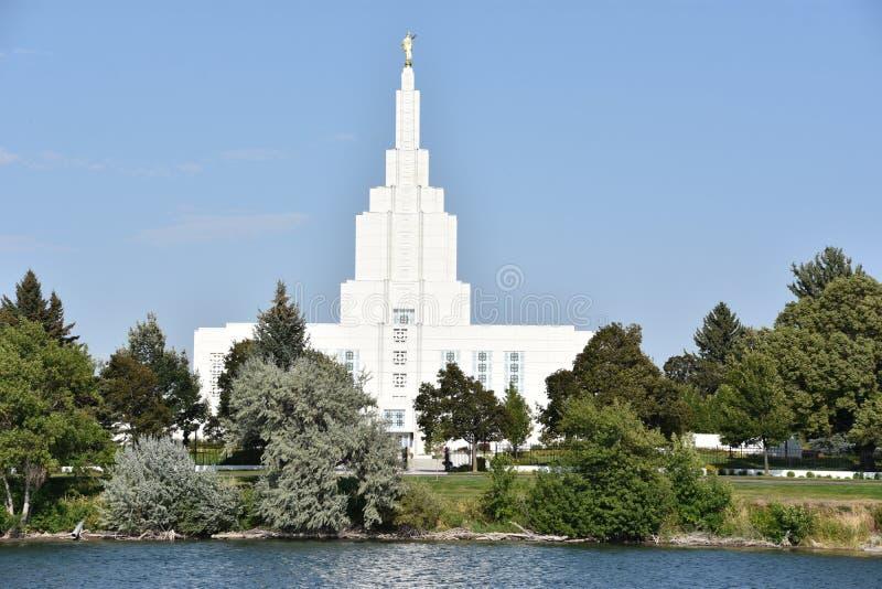 Mormon świątynia przy Idaho Spada w Idaho obrazy royalty free