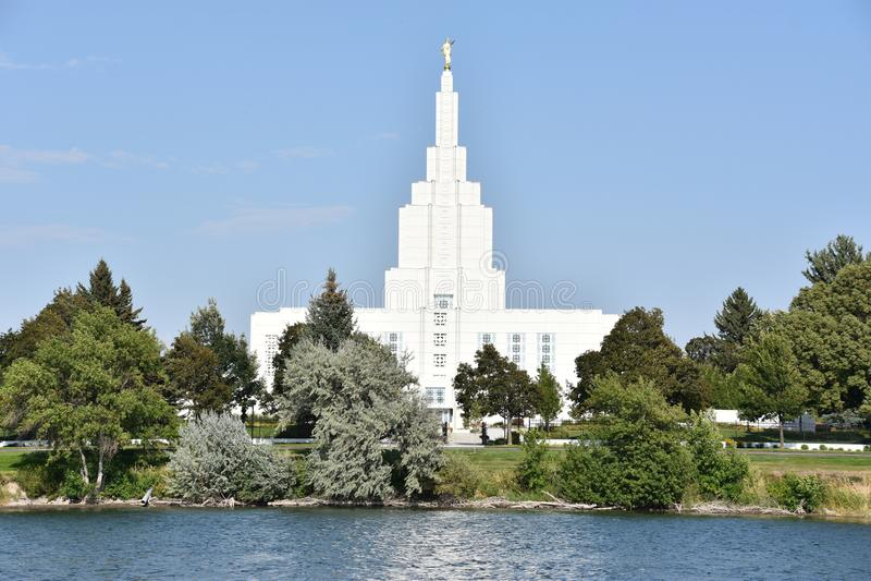 Mormon świątynia przy Idaho Spada w Idaho obrazy stock