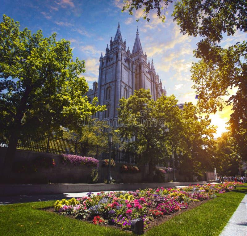 Mormon świątynia w Utah obrazy stock