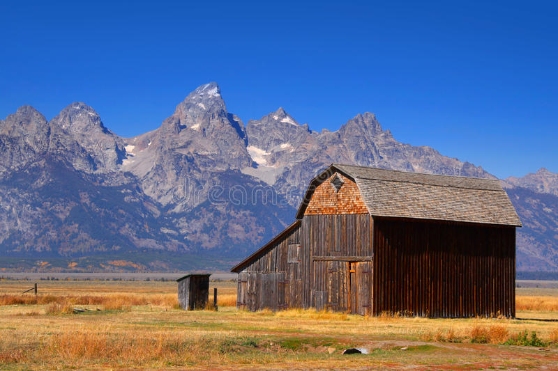 Mormon barn. Mormon row barns in Grand Tetons national park stock photos