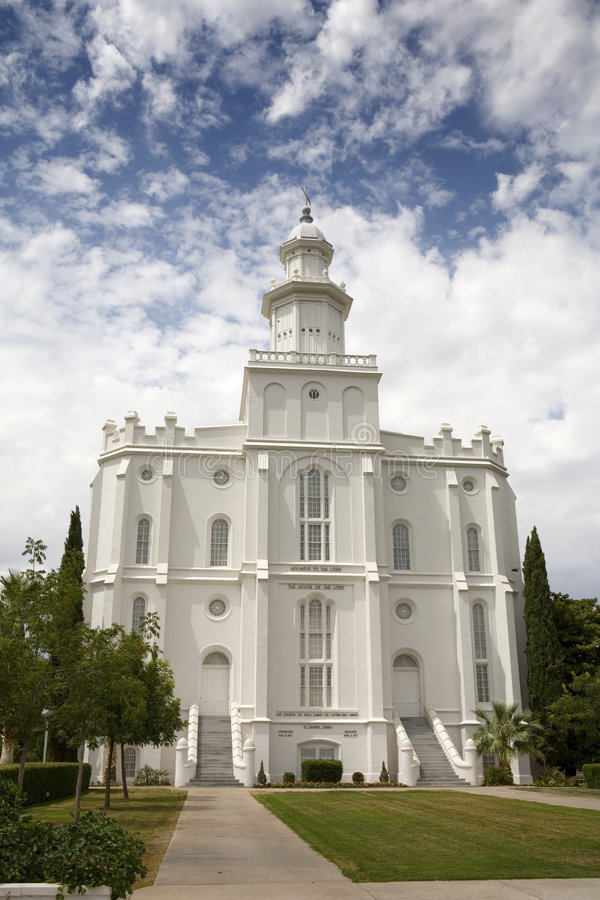 Mormon church. In St. George Utah 1st operating mormon temple stock images