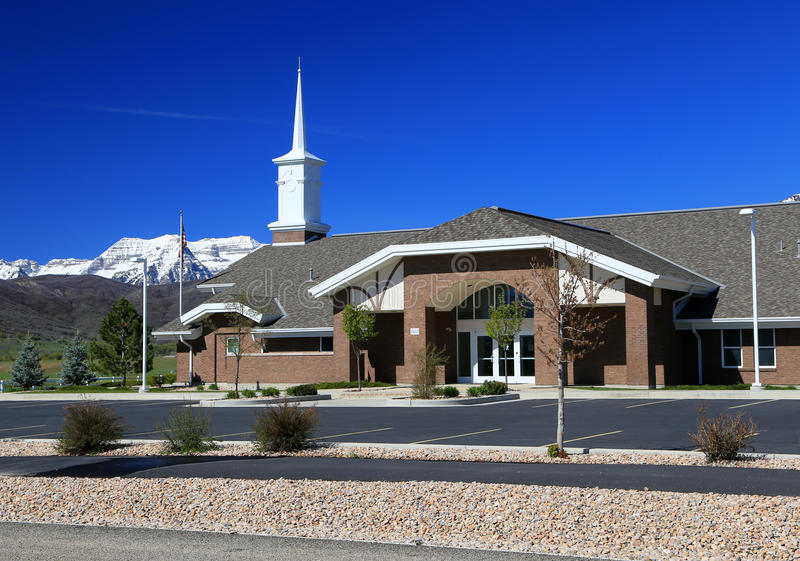 Mormon Church. Building in rural Utah, USA stock photography
