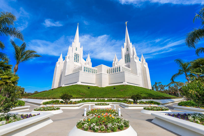 Mormon Church. San Diego, California at San Diego California Mormon Temple stock images