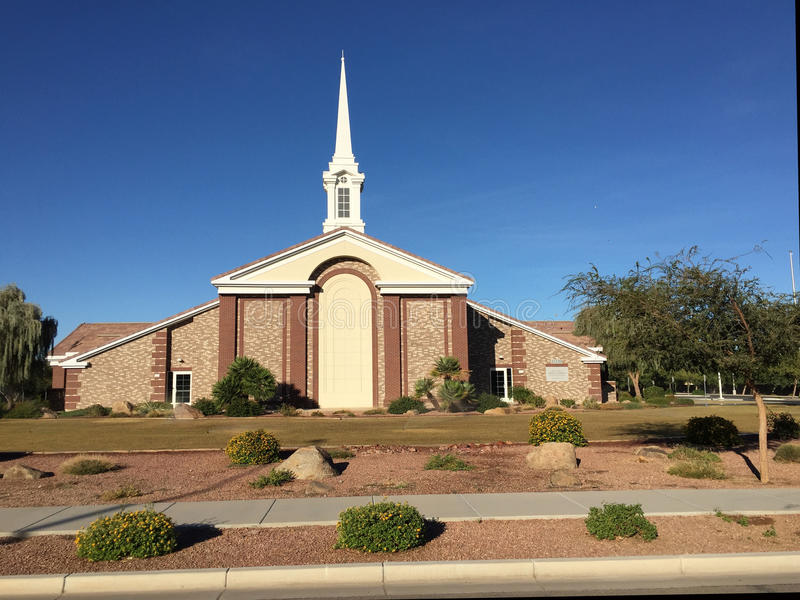 Mormon Church. In the town of Gilbert, Arizona royalty free stock photos