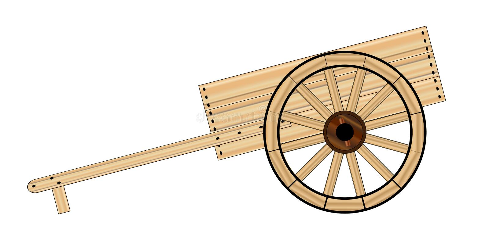 Mormon Hand Cart stock illustration