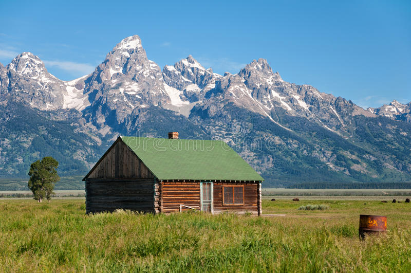 wyoming photo the national park cabin cabins now edit in grand stock abandoned teton image