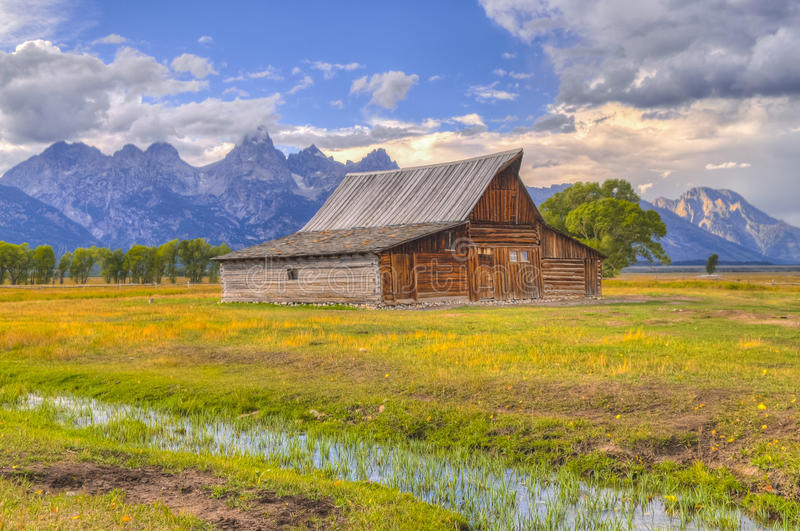 Mormon Row Grand Teton royalty free stock image