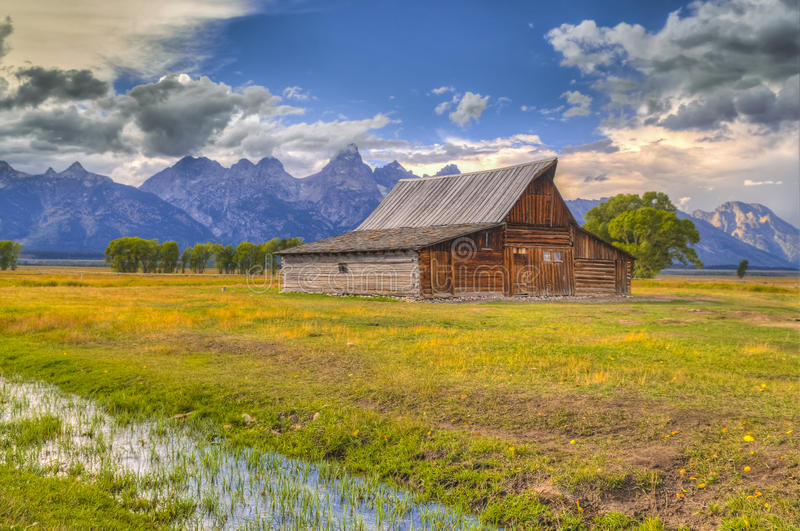Mormon Row Grand Teton stock images