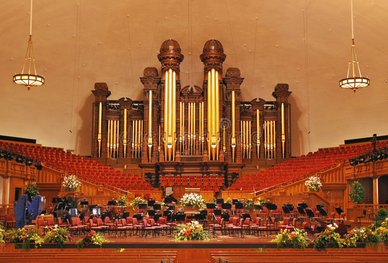 Mormon Tabernacle. Interior of the Mormon Tabernacle building at Temple Square, Salt Lake City, Utah royalty free stock images