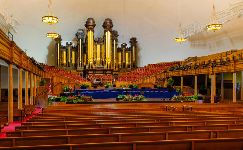 Mormon tabernacle. The Mormon Tabernacle building at Salt Lake City, Utah stock image