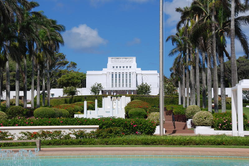 Mormon Temple. In Laie Hawaii royalty free stock photo