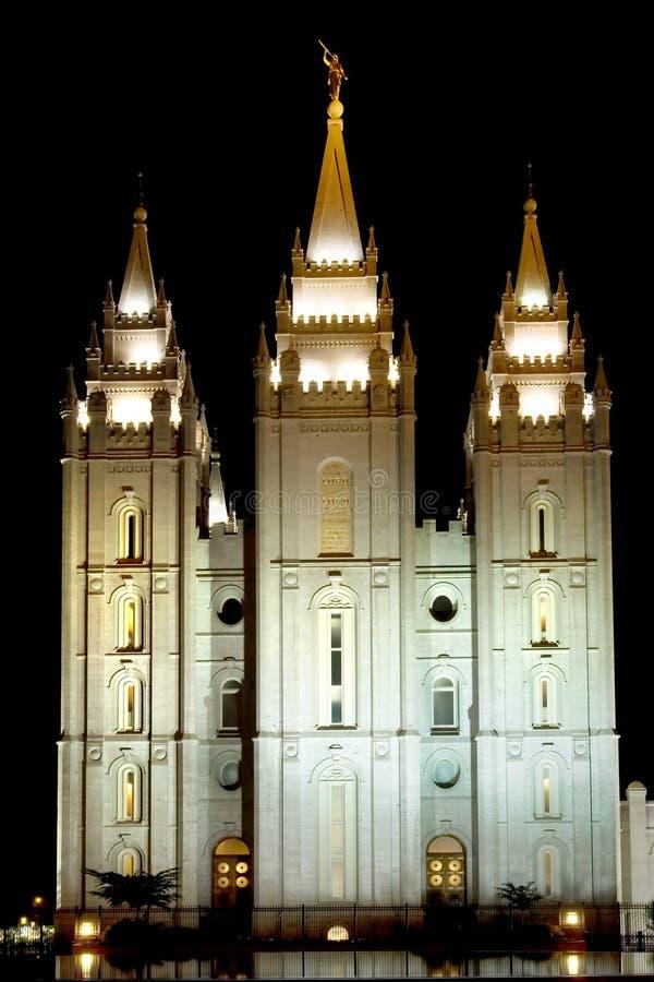 Mormon Temple stock photo