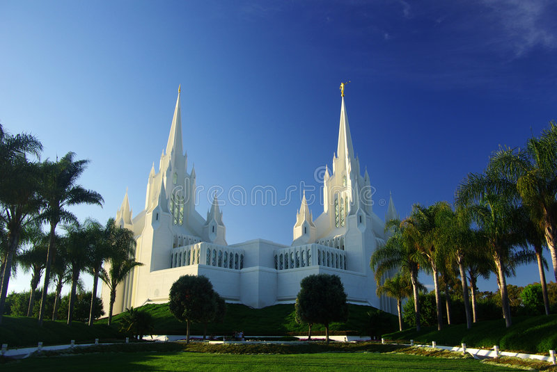 Mormon temple. A view of mormon temple in the afternoon,San Diego,CA stock photos