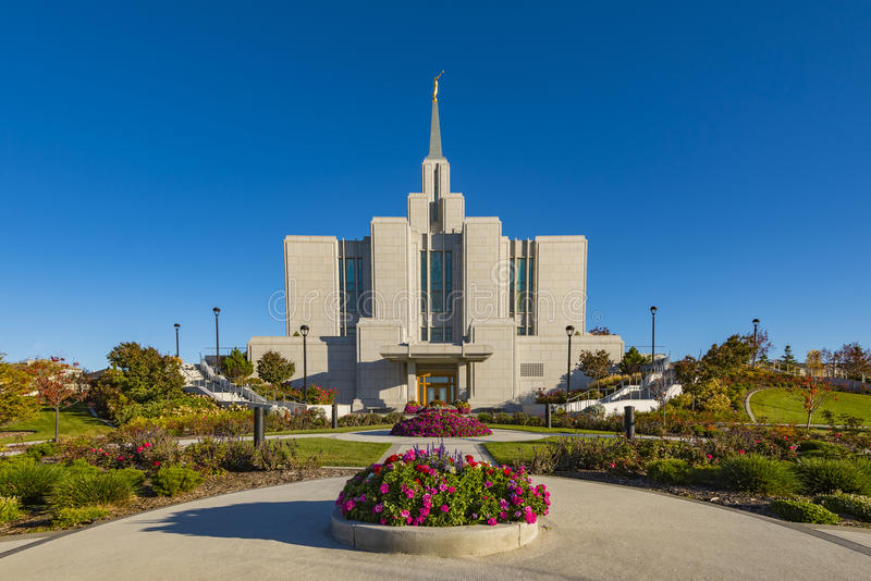 Mormon Temple stock photography