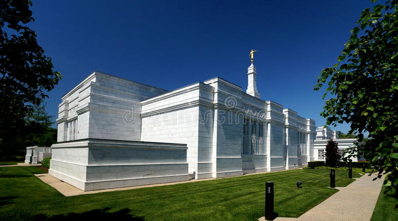 Mormon Temple. The Detroit Mormon Temple is located in Bloomfield Hills, Michigan stock photos