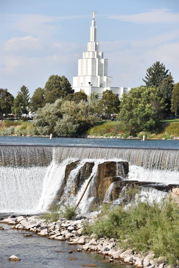 Mormon Temple at Idaho Falls in Idaho. USA royalty free stock photo