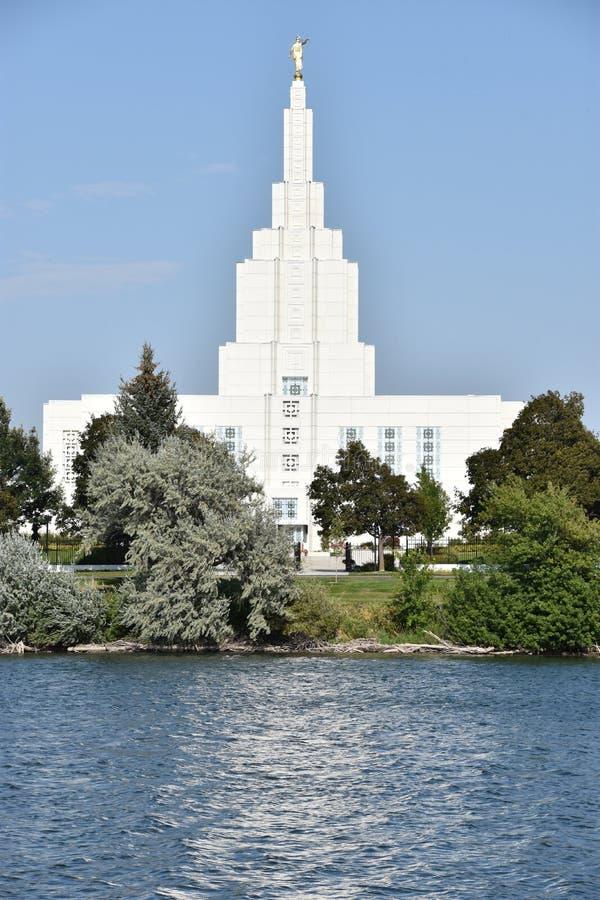 Mormon Temple at Idaho Falls in Idaho. USA royalty free stock photos