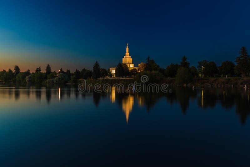 Mormon Temple at Idaho Falls royalty free stock image