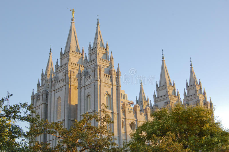 Mormon Temple in Salt Lake City royalty free stock photo