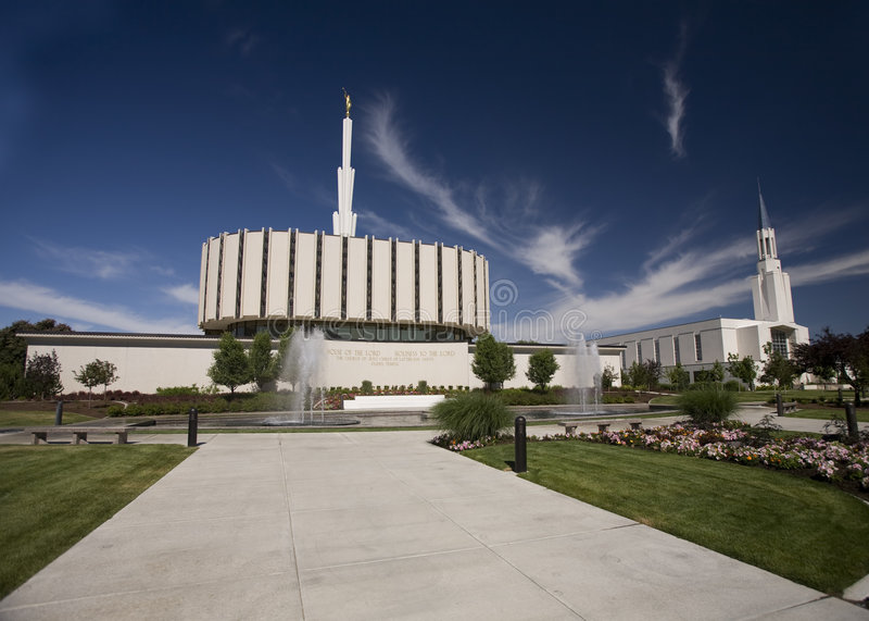 mormonen ogden tempelet utah royaltyfria bilder