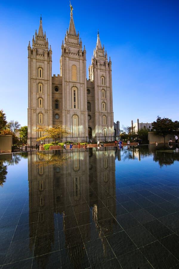 Mormonentempel in Salt Lake City royalty-vrije stock afbeelding