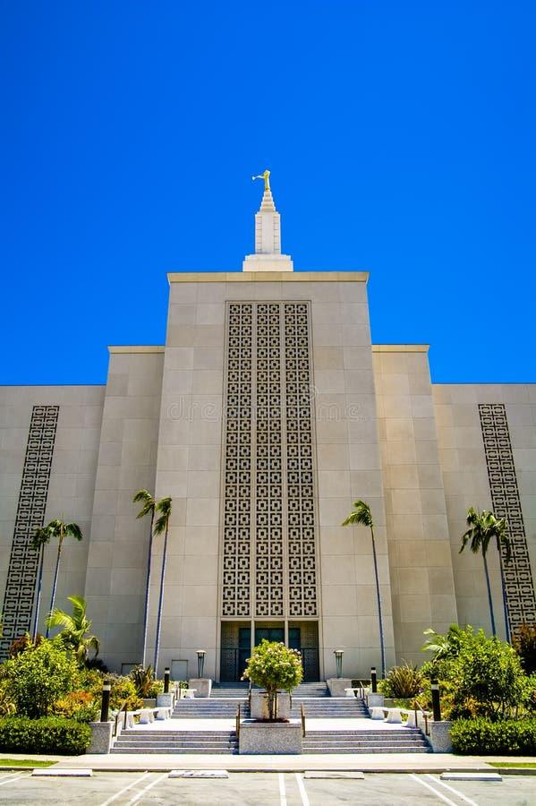 Mormonischer LDS Tempel Kalifornien Los Angeless lizenzfreie stockbilder