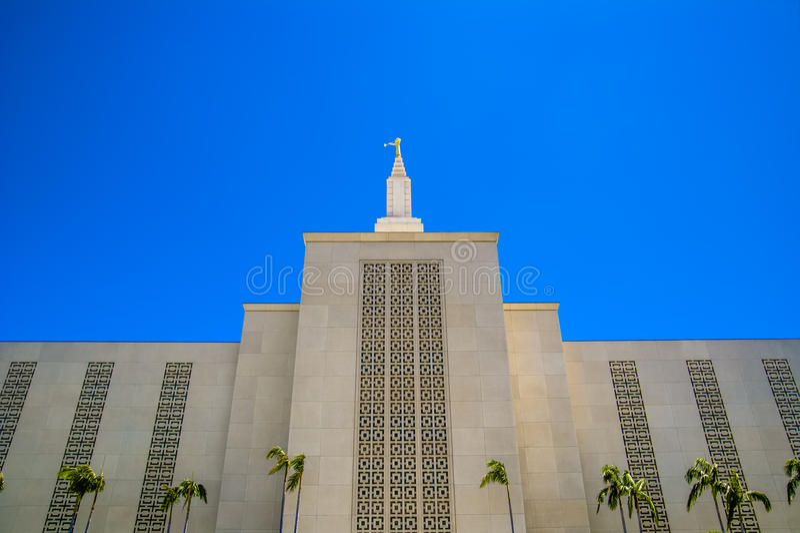 Mormonischer LDS Tempel Kalifornien Los Angeless lizenzfreie stockfotografie