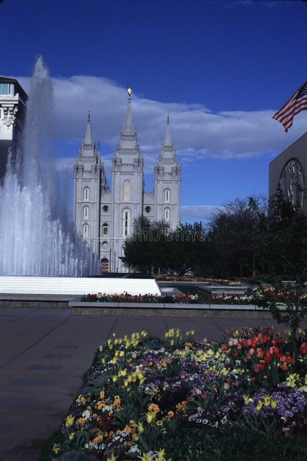 Mormonischer LDS-Tempel in Salt Lake City, Utah lizenzfreie stockfotografie