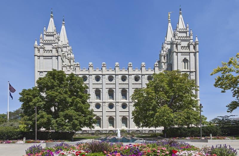Mormonischer Tempel - der Salt Lake-Tempel, Utah stockfotos