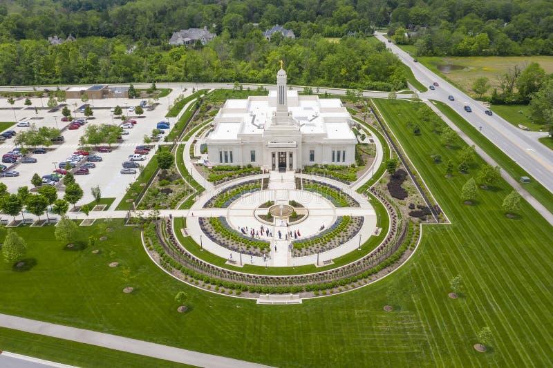 Mormonischer Tempel Indianapolis, Indiana Indianapolis lizenzfreie stockbilder