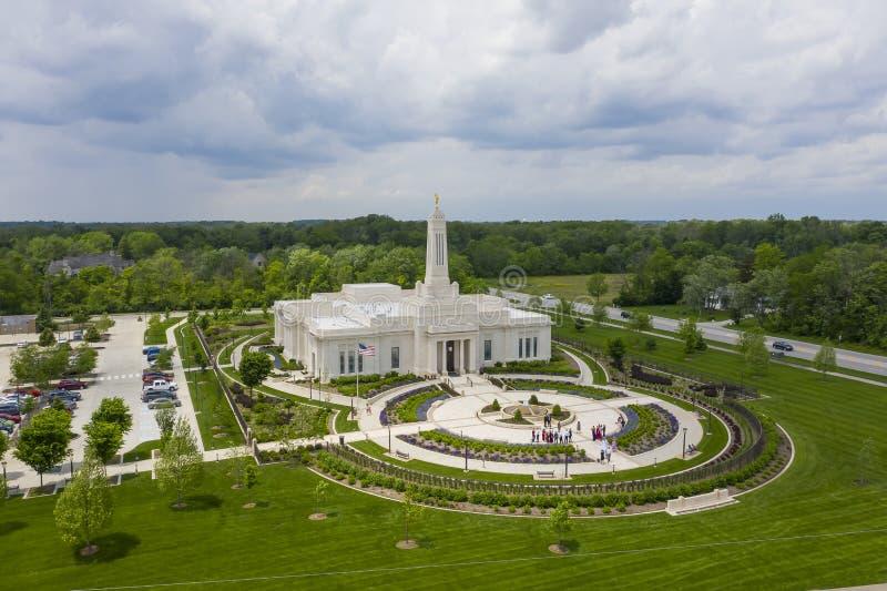 Mormonischer Tempel Indianapolis, Indiana Indianapolis lizenzfreie stockfotos