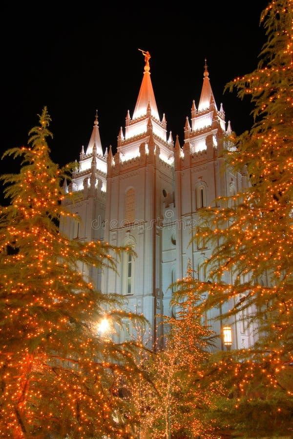 mormonischer Tempel Salt Lake City lizenzfreie stockfotografie