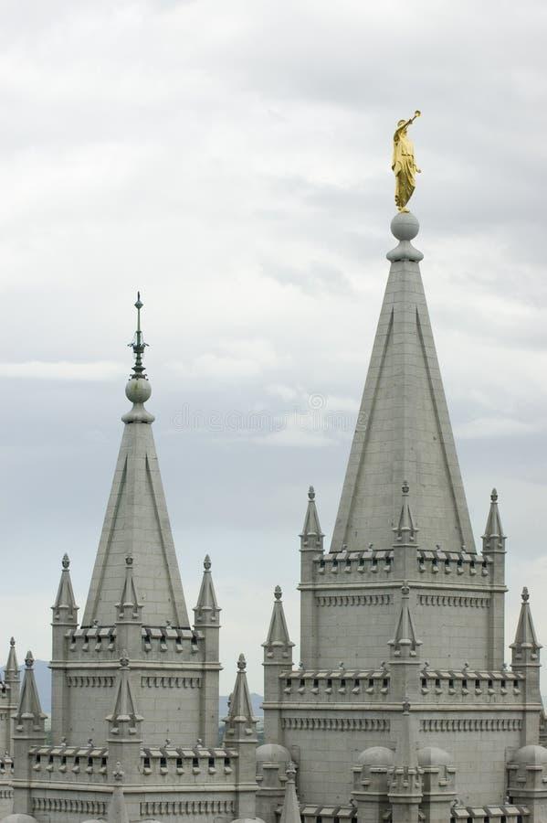 Mormonischer Tempel in Salt Lake City, Utah stockfotos