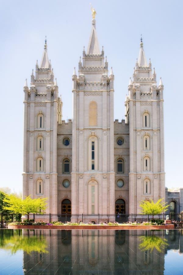 Mormonischer Tempel in Salt Lake City, Utah lizenzfreie stockfotos