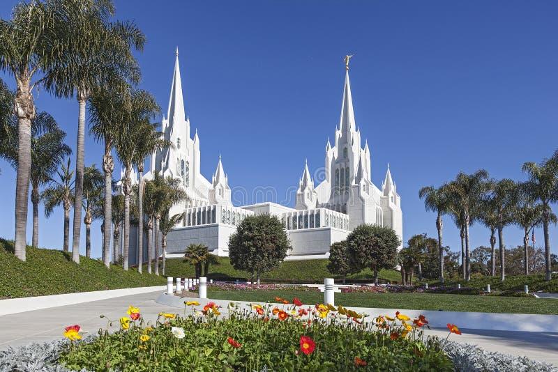 Mormonischer Tempel - San Diego California Temple lizenzfreie stockfotografie