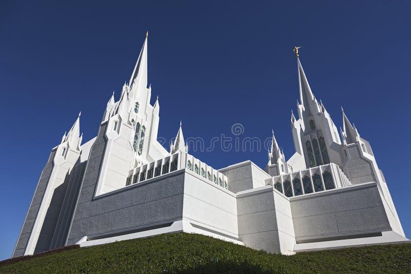 Mormonischer Tempel - San Diego California Temple lizenzfreies stockfoto