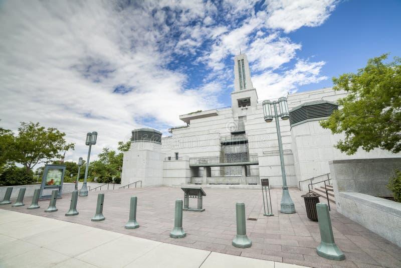 Mormonisches Konferenzzentrum, Salt Lake City, Utah stockbild