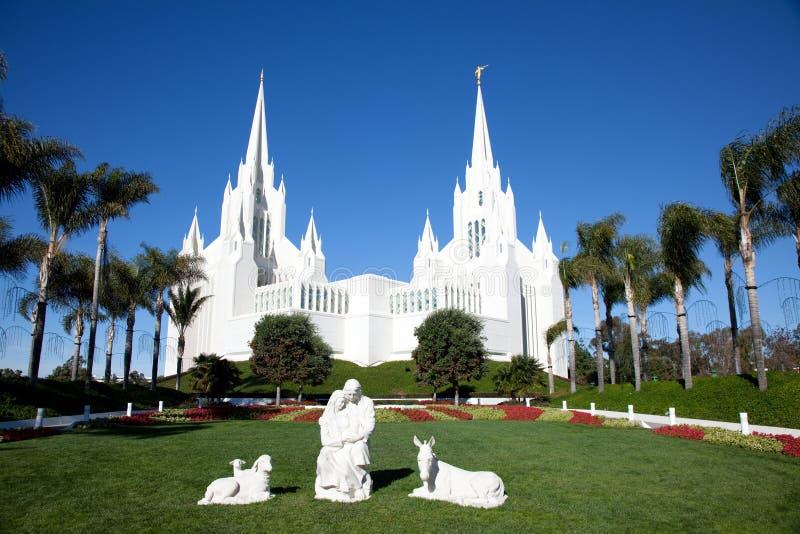 mormons świątynia fotografia royalty free